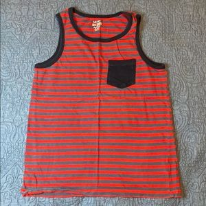 Boys red and blue striped tank